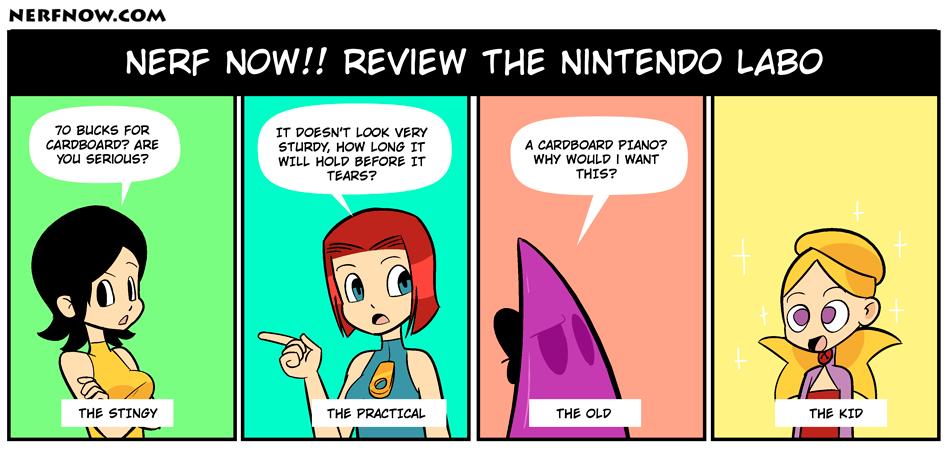 Nerf Now Nintendo Labo