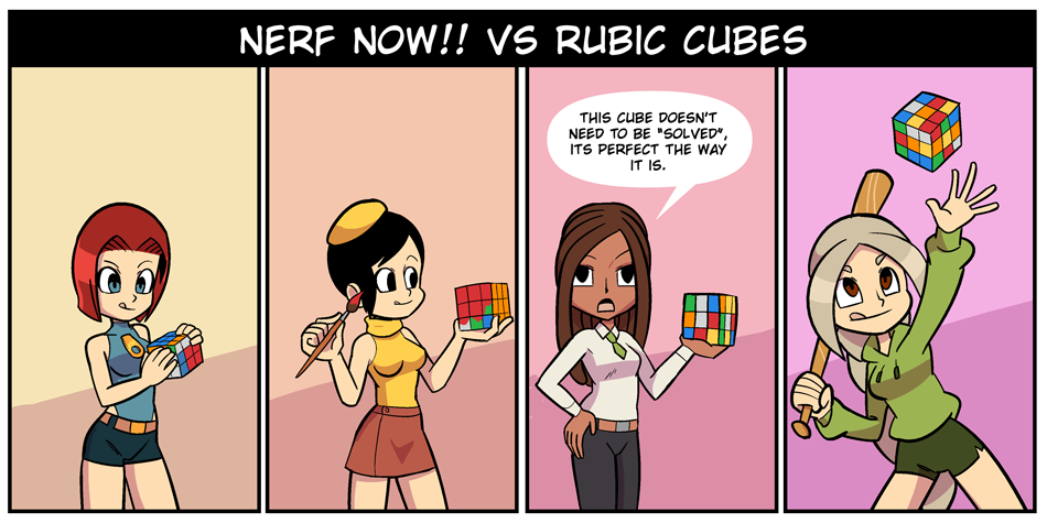 Nerf NOW!! vs Rubik Cubes