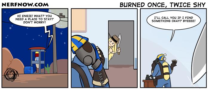 Burned once, twice shy